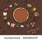 hand drawn ingredients for... | Shutterstock .eps vector #368384249