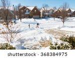 snowy street in american... | Shutterstock . vector #368384975