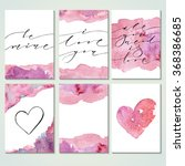 present card templates with... | Shutterstock .eps vector #368386685