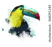 watercolor bird  illustration... | Shutterstock . vector #368391185