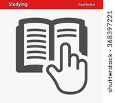 studying icon. professional ... | Shutterstock .eps vector #368397221