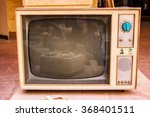 retro tv  old television on a... | Shutterstock . vector #368401511
