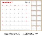 calendar 2017  english planning ... | Shutterstock .eps vector #368405279