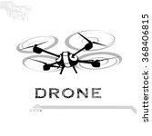 drone  quadrocopter  uav vector ... | Shutterstock .eps vector #368406815