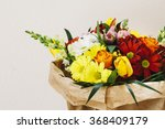 Close Up Shot Of Bouquet Of...