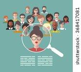 vector concept of human... | Shutterstock .eps vector #368417081