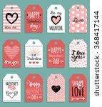 vector valentine's cards... | Shutterstock .eps vector #368417144