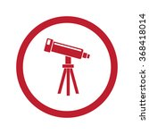 flat red telescope icon in... | Shutterstock .eps vector #368418014