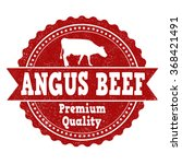 angus beef grunge rubber stamp... | Shutterstock .eps vector #368421491