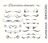 hand drawn dividers set.... | Shutterstock .eps vector #368424281