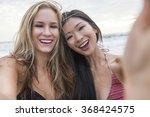 Two Young Women Girls  One...