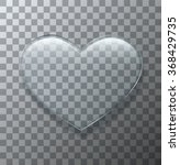 Vector Modern Glass Heart On...
