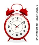 classic alarm clock isolated on ... | Shutterstock .eps vector #368430071