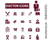 doctor  clinic  icons  signs... | Shutterstock .eps vector #368432051