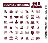 business training  icons  signs ... | Shutterstock .eps vector #368432141