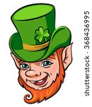 head of a smiling leprechaun ... | Shutterstock .eps vector #368436995