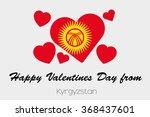 a valentines flag illustration...   Shutterstock . vector #368437601