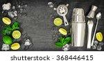 bar tools. ingredients for... | Shutterstock . vector #368446415