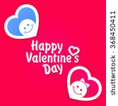 happy valentine's day lettering ... | Shutterstock .eps vector #368450411