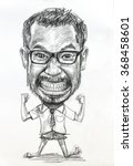 Caricature Drawing Of Man Big...