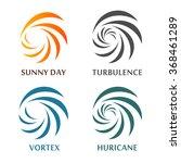 set of abstract spinning vector ... | Shutterstock .eps vector #368461289