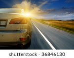 the car goes on a meeting to... | Shutterstock . vector #36846130