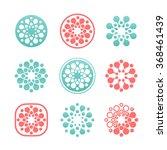 set of round vector logos....   Shutterstock .eps vector #368461439