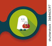 ghost flat icon with long... | Shutterstock .eps vector #368463197
