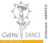 irish woman or girl dancing... | Shutterstock .eps vector #368469515