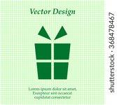 gift icon. vector illustration. ...
