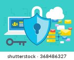 internet security concept with... | Shutterstock .eps vector #368486327
