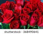Close Up On Red Roses