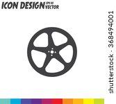 movie video film reel vector...   Shutterstock .eps vector #368494001