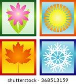 four seasons | Shutterstock .eps vector #368513159