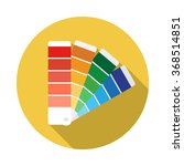 color guide flat icon with long