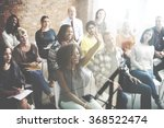 diverse people conference... | Shutterstock . vector #368522474