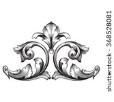 vintage baroque frame scroll... | Shutterstock .eps vector #368528081