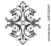 vintage baroque frame scroll...   Shutterstock .eps vector #368528369