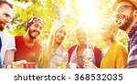 friend celebrate party picnic... | Shutterstock . vector #368532035