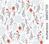 beauty seamless floral pattern  | Shutterstock .eps vector #368537705