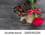 Box Of Chocolates  Red Rose On...