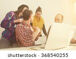 young group of people... | Shutterstock . vector #368540255
