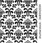 damask seamless floral pattern. ... | Shutterstock . vector #368542034