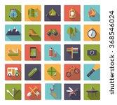 set of flat design camping ... | Shutterstock .eps vector #368546024