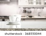 white cup of coffee and wooden... | Shutterstock . vector #368550044