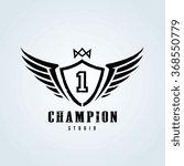 champion logo template    Shutterstock .eps vector #368550779