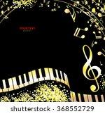 musical christmas background | Shutterstock .eps vector #368552729