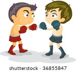 illustration of kids on white | Shutterstock . vector #36855847