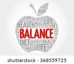 balance apple word cloud ... | Shutterstock .eps vector #368559725