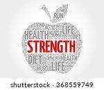 strength apple word cloud ... | Shutterstock .eps vector #368559749